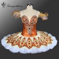Dernières adulte professionnel tutus de ballet pour fille casse-noisette Classique ballet tutu blanc orange swan lake ballet costumes BT9132A