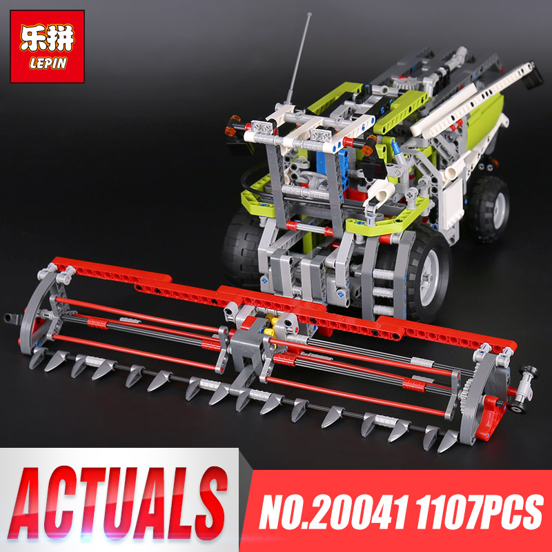 Lepin 20041 1107Pcs Genuine Technic Series The Combine Harvester Set Educational Building Blocks Bricks Toys Model Gift 8274 ynynoo lepin 02043 stucke city series airport terminal modell bausteine set ziegel spielzeug fur kinder geschenk junge spielzeug