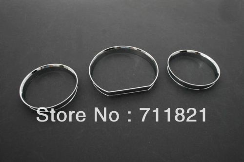 <font><b>Chrome</b></font> Dash Board Gauge Ring Set For <font><b>Mercedes</b></font> Benz <font><b>W124</b></font> E Class image