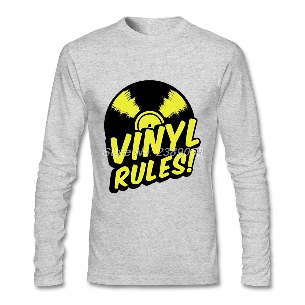 Design t shirt unique - New Design Mens T Shirt Vinyl Rules Unique Long Sleeve O Neck Tee Shirts Cotton T