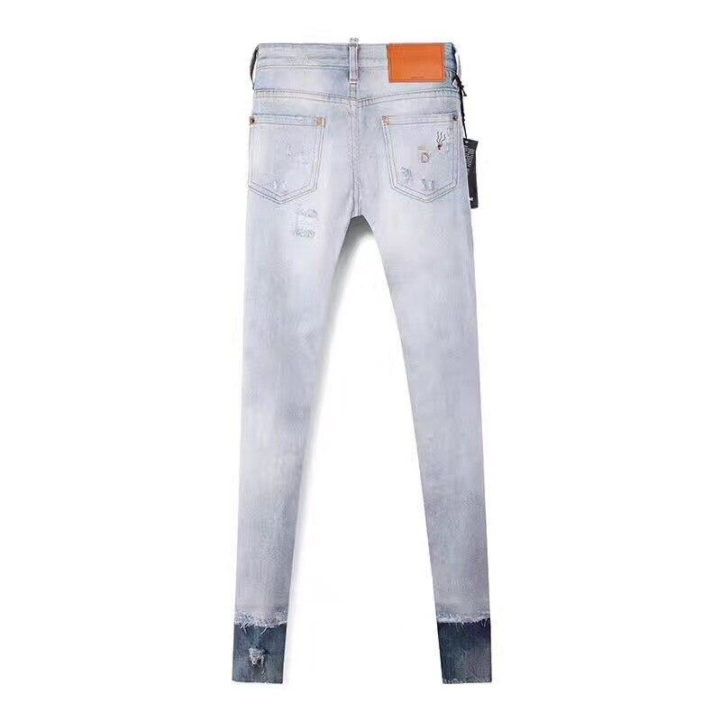 2017 neue Löcher Jeans für Frauen Hosen Hosen Augen Denimhose Zeichnen Hosen Brief Druck Jeans Frau Mode Sommer-in Jeans aus Damenbekleidung bei  Gruppe 2