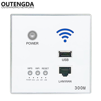 300M New In-Wall AP Access Point Wireless WiFi router USB-charging Socket Wall Mount Wi-Fi AP Router with WPS Encryption new original ap 114br a plc 100 240vac npn pnp 8 point relay 6 point ap