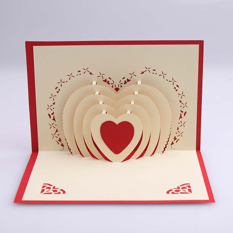 3d pop up heart shape card postcards greeting card decoration happy 3d pop up heart shape card postcards greeting card decoration happy anniversary birthday valentine christmas in cards invitations from home garden on m4hsunfo