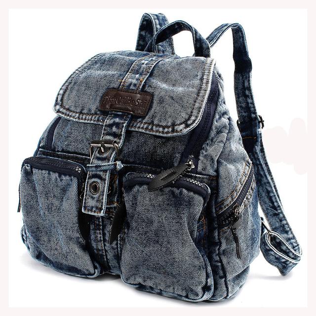 TEXU Mujeres mochila campus school mochilas para adolescente niñas casuales de Mezclilla de la vendimia bolsas mochila mujeres bolsa de viaje