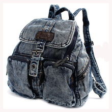Texu/Для женщин рюкзак винтажные джинсовые рюкзаки для девочек-подростков повседневная школьная Campus сумки путешествия рюкзак женщины сумку