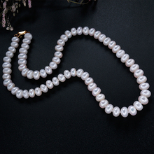 43/45/48/50/55/60cm Classic Natural Freshwater Pearl Necklace for women Best gift for mother white/pink/purple pearl(China)