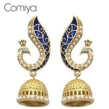 7ae6d53bb Comiya new fashion drop earrings for women rhinestone mosaic brincos de  festa indian jewelry pendientes largos earring joias : USD3.47