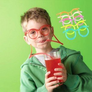 Creative glasses happy base camp Zhang Jie fun funny straw children eyes art A variety of colors 5pcs/lot free shipping