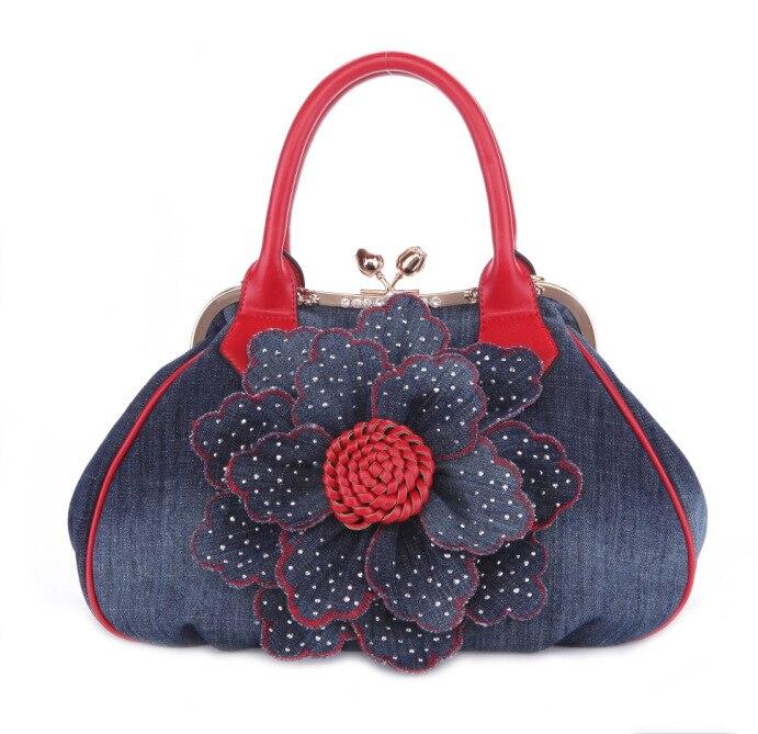 2017 famous designer women handbag vintage flower womens tote women messenger bags ladies purse shoulder bag