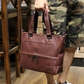 Tidog Men's handbags business men's bags cross section briefcase contracted leisure business bag