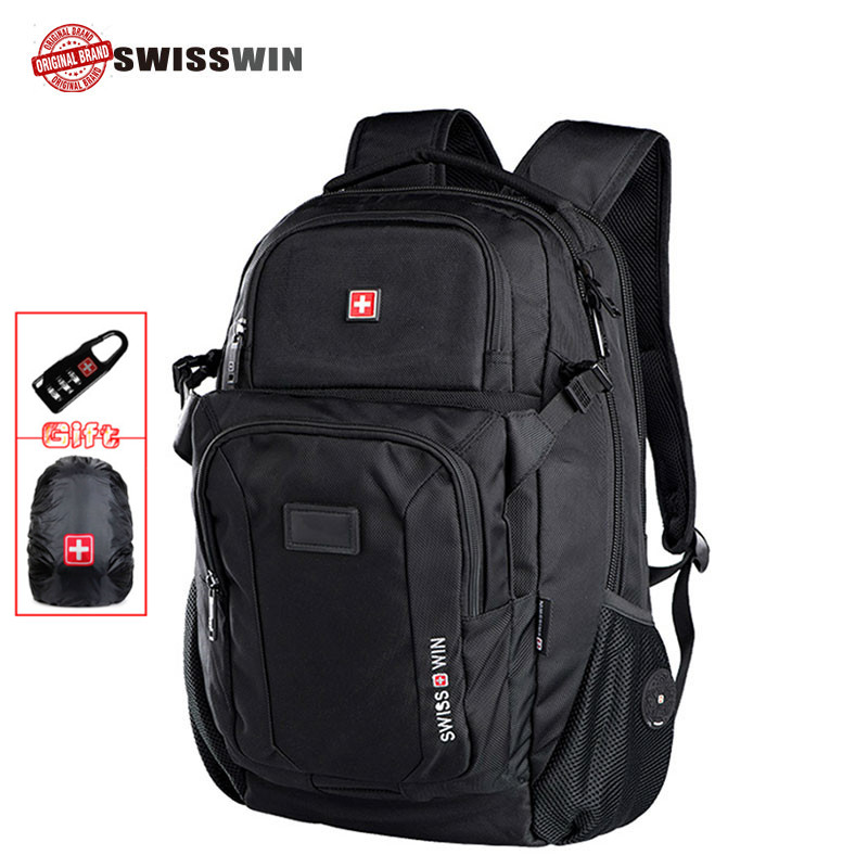 swiss laptop backpack anti theft 17 inch computer bag men backpack multifunctional Boy Backpack Male Backpack Female Bag