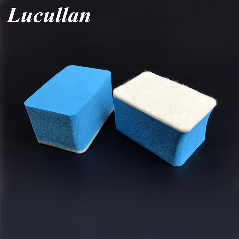 Lucullan Car Oil Film Remover Applicator Auto Detailing Glass Cleaning Polishing Sponge Glass Spotless Useful Tools
