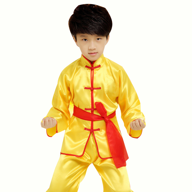 New Superior quality Wing Chun Chinese kong-fu Set Tang Suit Kids Kung Fu Clothes Uniform Set Children's martial arts costume