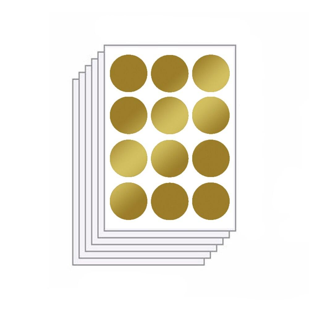 Funlife 6 sheets/pack 72pcs Glitter Polka Dots DIY Vinyl Wall Decals ...
