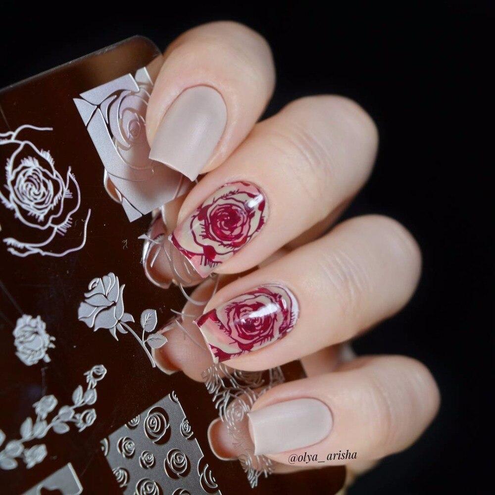 KADS Hot Fashion Charming Flower Print Sencil Nail Art Polish Stamping Plates Nail Beauty Template Manicure DIY Styling Tools 8 pcs nail art sponges stamping polish template transfer manicure diy tool