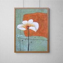 Lienzo de pintura de flores Vintage, arte de pared para dormitorio, lienzo, pintura al óleo, decoración escandinava para sala de estar