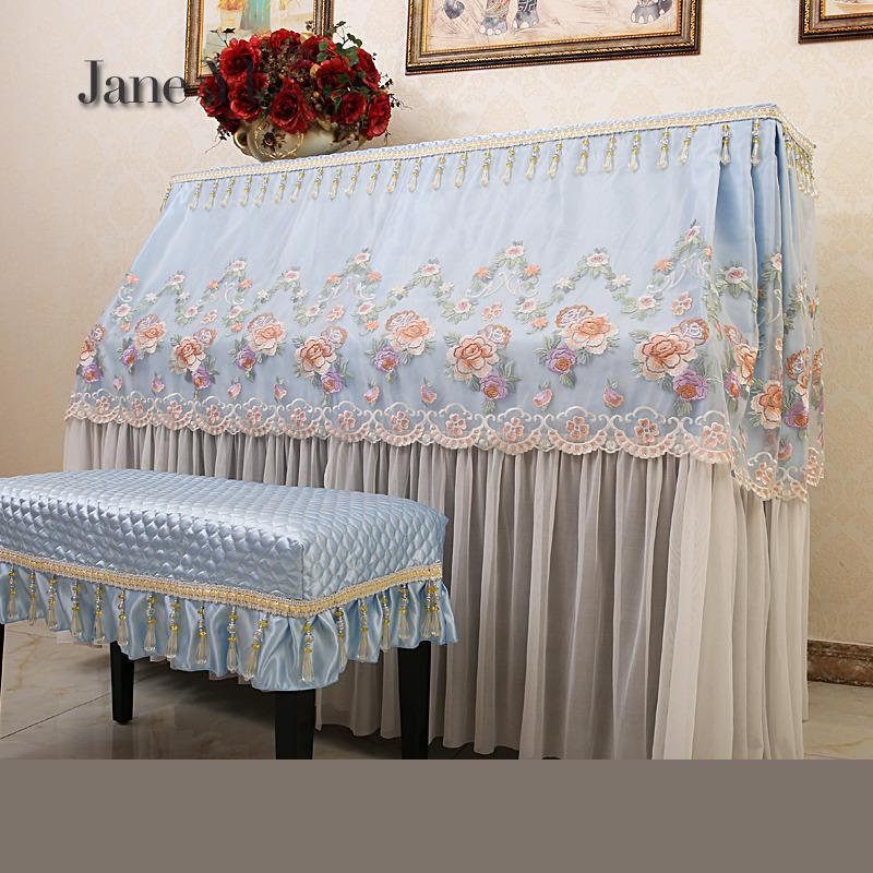 JaneYU Marriage Fine Lace Cloth Piano Cover High-grade Dust-proof Full Rural Princess Simple Modern Bench