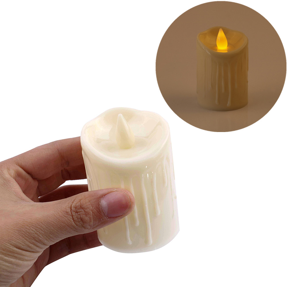 New Year Candles Battery Powered Led Tea Lights Tealights Fake Led Candle Light Easter Candle
