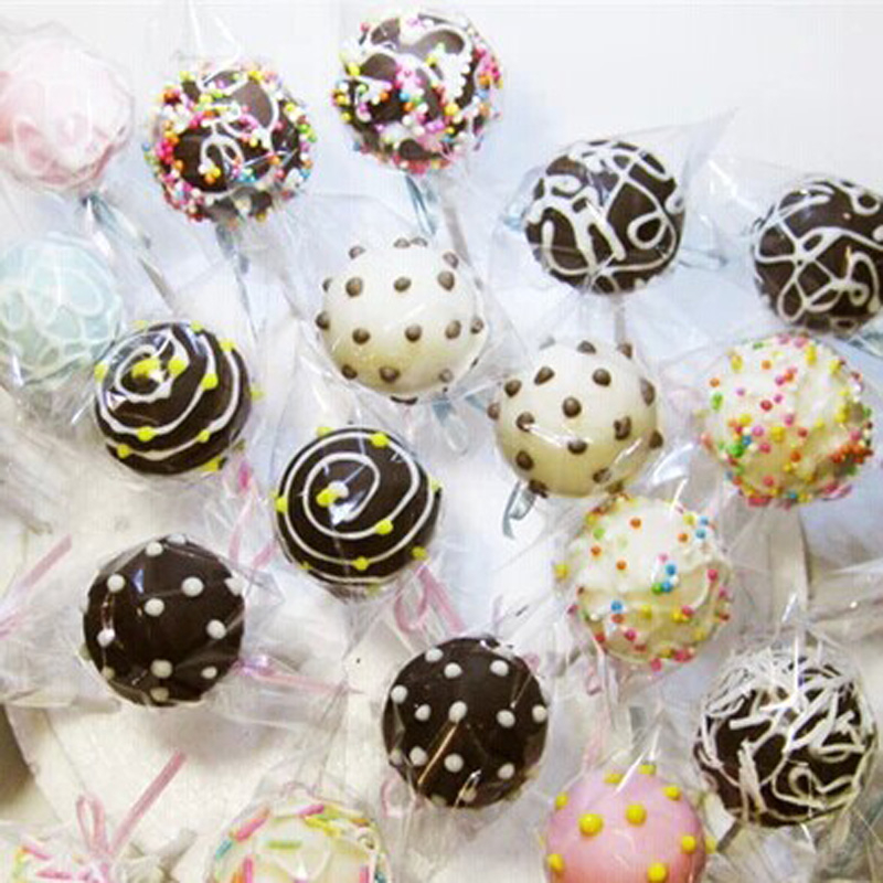"""100 x Clear Cello Cellophane Poly Bags 2/"""" x 10/"""" for Lollipops Sweets Cake Pops"""