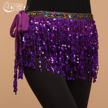 New Belly Dance Hip Scarf Belly Dance Accessories Belt Dance Indian Sequins Tassel Belt Handmade Square Bollywood Belt