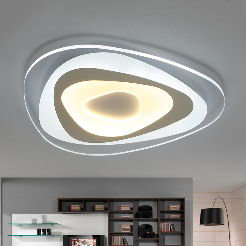 15 Ultra Modern Ceiling Designs For Your Master Bedroom: Ultrathin Surface Mounted Triangle Modern Led Ceiling