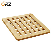 ORZ 3PCS Bamboo Pot Holder Heat Resistant Mat Kitchen Accessories Dinning Table Placemat Round Pan Pad Trivet