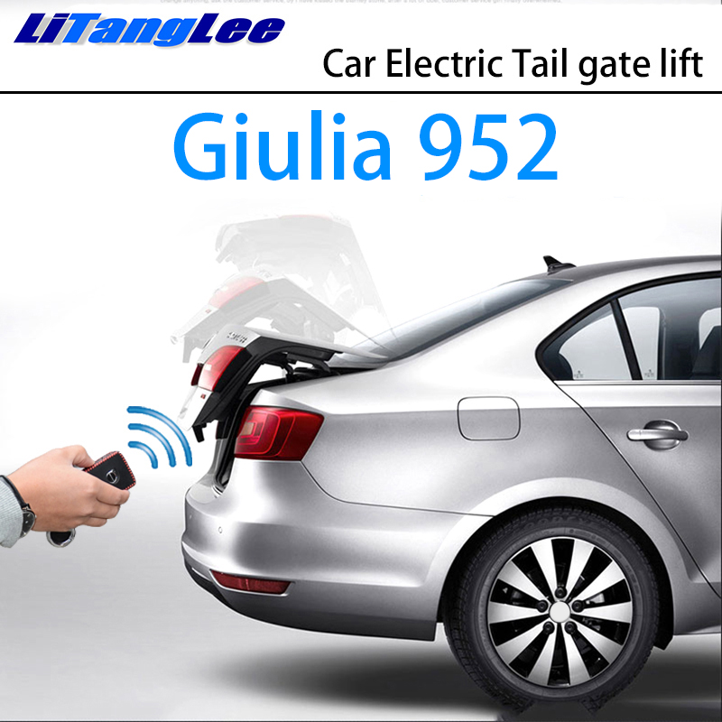 LiTangLee Car Electric Tail Gate Lift Trunk Rear Door Assist System For Alfa Romeo Giulia 952 2016 2018 2017 2019 Remote Control
