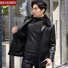 Для мужчин S зимние кожаные куртки кардиган на молнии Для мужчин норки пальто бренд молодежной Для мужчин пальто из искусственного меха мотоциклетные Прямая поставка одежды