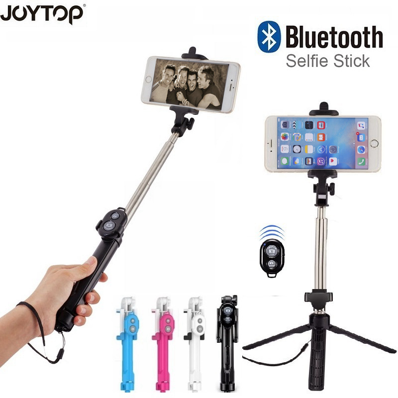 JOYTOP palo Selfie plegable Bluetooth Selfie Stick + trípode + obturador Bluetooth remoto trípode para iPhone Android Selfie Sticks