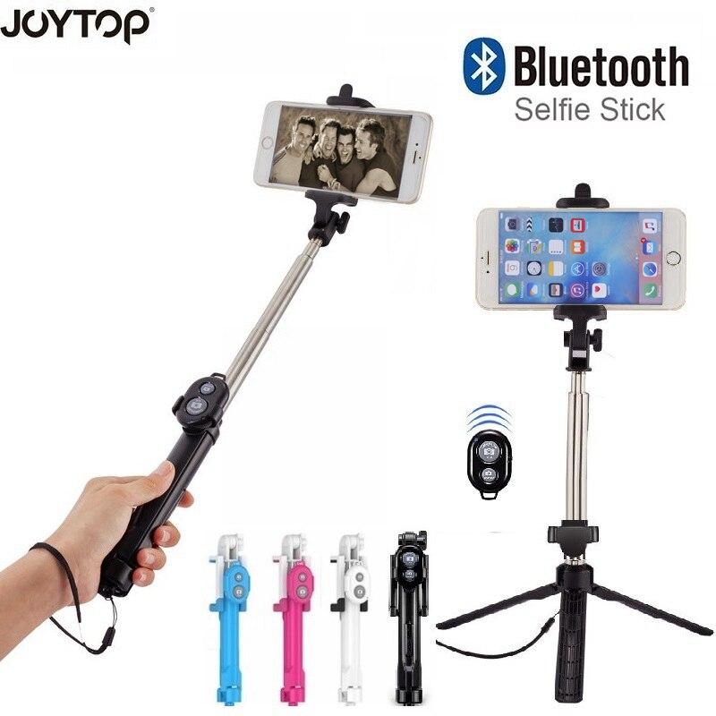 JOYTOP plegable Selfie Stick Bluetooth Selfie Stick + trípode + Bluetooth obturador remoto trípode para iPhone Android Selfie Sticks