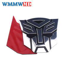 цена на 3D Metal Autobots Sticker Metal Transformers Auto Window Tail Car Body Decoration Car Styling 3M Glue Sticker Accessories