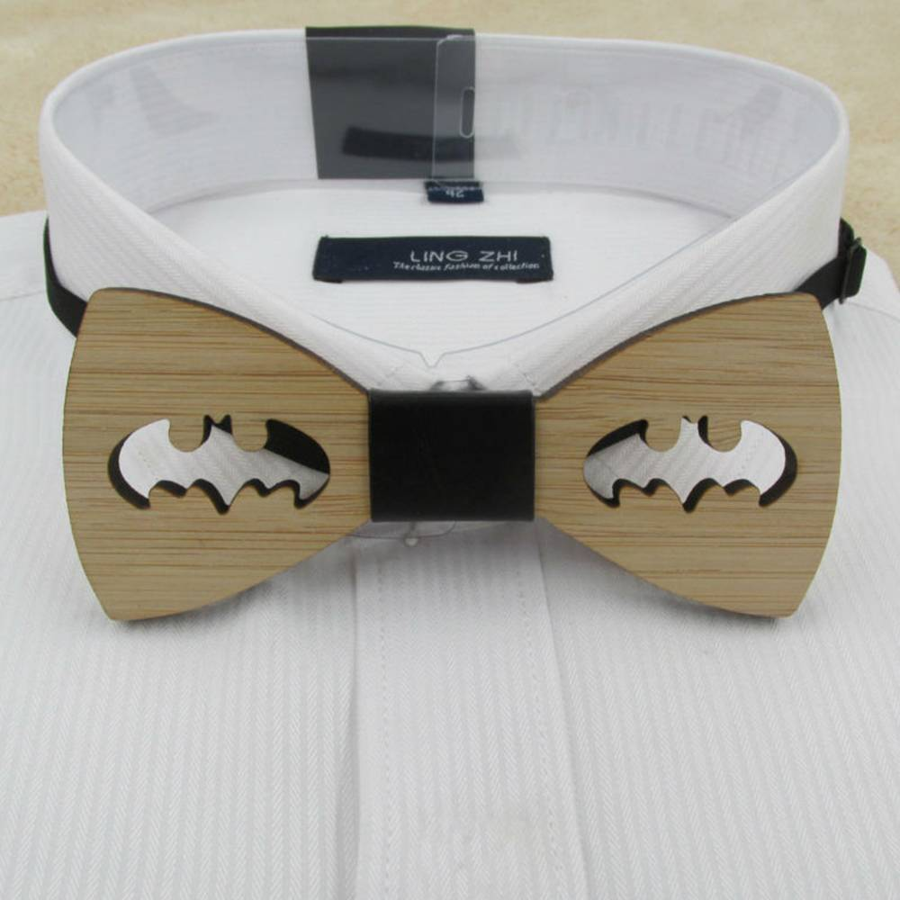 2019 Fashion Retro Vintage Men's Wooden Bow Tie Accessory Wedding Gift Bamboo Wood Bowtie For Men Business Hot Sale