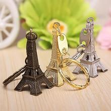 Metal Paris Eiffel Tower Pendant Keychain Keyring Keyfob Key Ring Xmas Gift