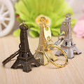 Torre Eiffel de París del Metal Colgante Llavero Llavero Anillo de Llavero del Llavero del Regalo de Navidad de Color Al Azar