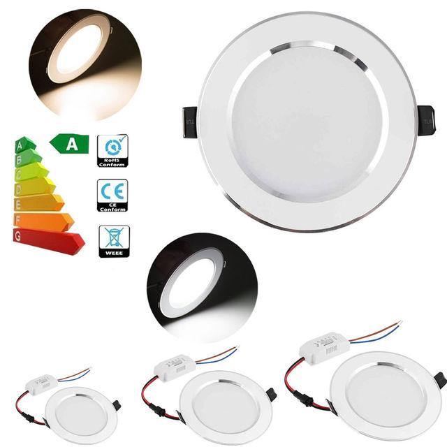 1PCS Led Downlight Ceiling Lamp Lighting 3W 5W 7W 9W 12W 15W 18W 5730 SMD LED Panel Light Warm/Cool/White 85-265V Higt Quality