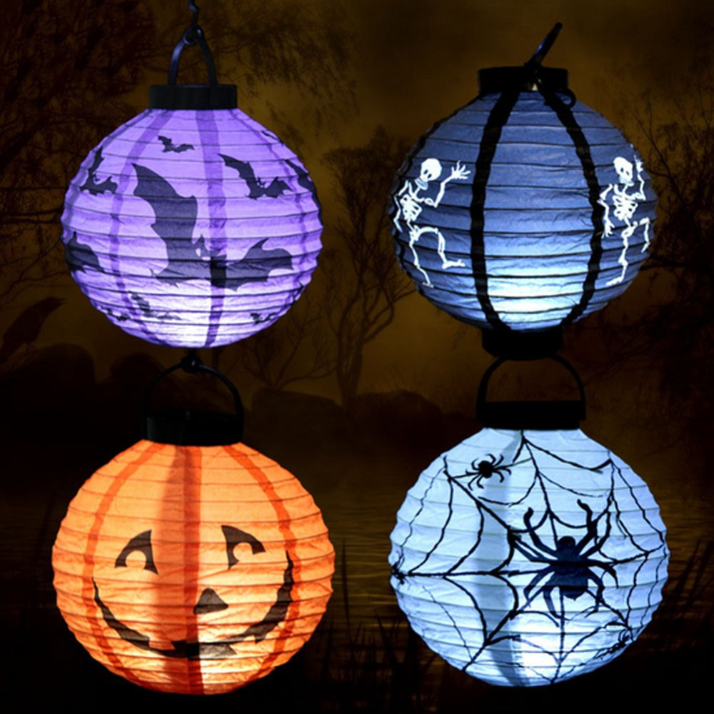 1 Pcs Halloween Decoration Halloween Props Outdoor Event Party Supplies Bar  Supplies Shop Haunted Pumpkin String Lights Emitting