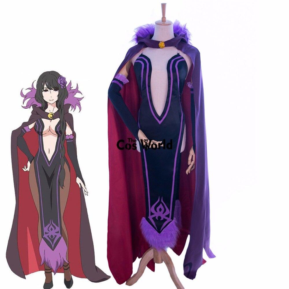 Re Zero Kara Hajimeru Isekai Seikatsu Elsa ouvert poitrine hauts robe cape uniforme tenue Anime Cosplay Costumes