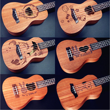 21 inch 4 strings Hawaiian Ukulele soprano uke Small Guitar Cartoon Patterns Kids Gift Sapele Ukulele Rosewood Fingerboard hawai