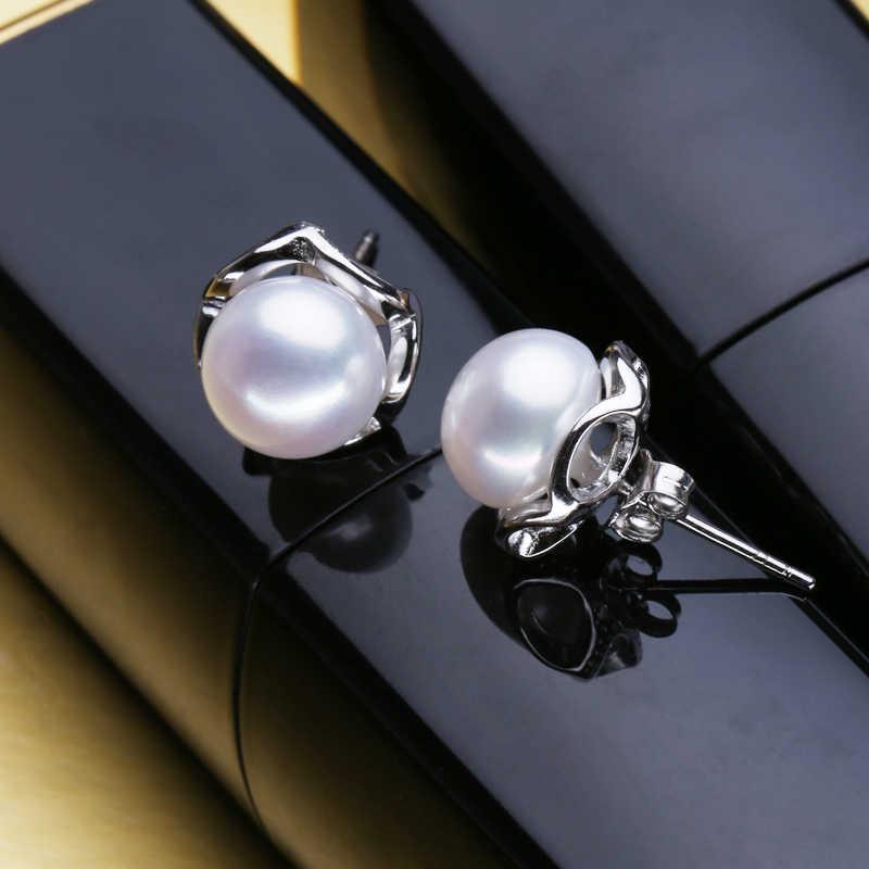 FENASY women jewelry set,Black pearl Jewelry Sets for Women Pearl 925 Silver jewelry,trendy earings charming fine jewelry box