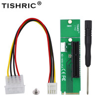 TISHRIC NGFF SSD M.2 M2 to PCIE Pci e Pci-e Pci Express 4x 1x Slot Adapter Card Mining Riser Extender Multiplier For Btc Miner(China)