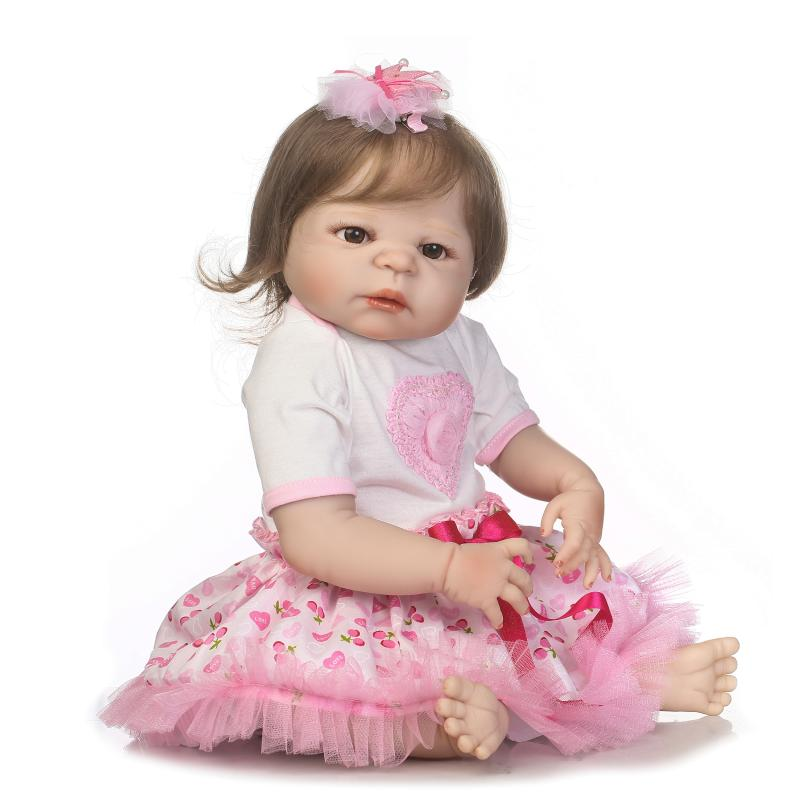 NPKCOLLECTION lifelike reborn baby soft real gentle touch with full vinyl body doll for children Birthday Gift npkcollection victoria reborn baby soft real gentle touch full vinyl body wig hair doll gift for children birthday and christmas