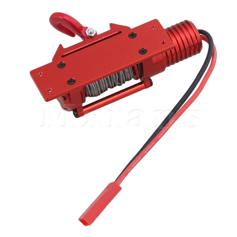 Mxfans красный RC1: 8 1:10 1:18 fz0019 Алюминий сплав Пластик электрическая лебедка обновления Запчасти для скалолазания Гусеничный
