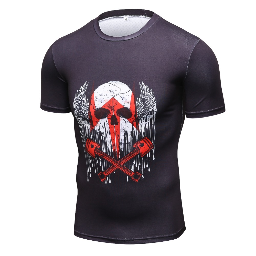 Hot Style Fitness T Shirt Men New Brand Tops & Tees Quick Dry Slim Fit High quality compression Short sleeve T-shirt Clothing