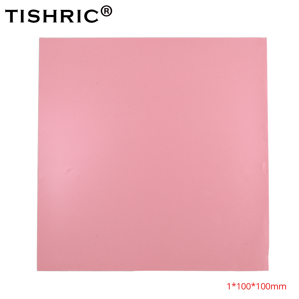 TISHRIC 2018 Red For Fan PC Computer Heat Sink Cooling Cooler Heatsink Conductive Silicone Pad CPU GPU Thermal Pads 1mm