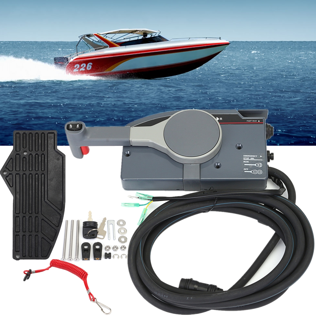hight resolution of control box includes a key switch stop lanyard and 16 10 pin harness and cable box is push to open match the original yamaha outboard engine