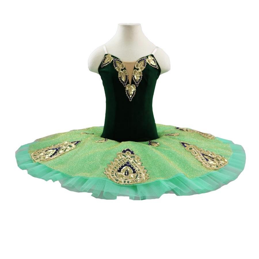 swan ballet tutu costumes Dark blue gold pancake tutu gilrs ballet tutus professional tutu nutcracker ballet costumes