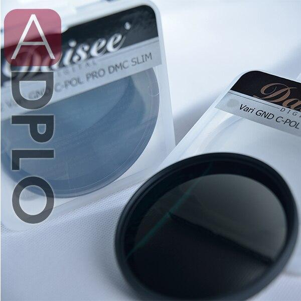 Daisee 67 mm VARIABLE GND C-PL PRO DMC SLIM Filter / GRADUATED gray neutral density  + Circular-Polarizing Filters