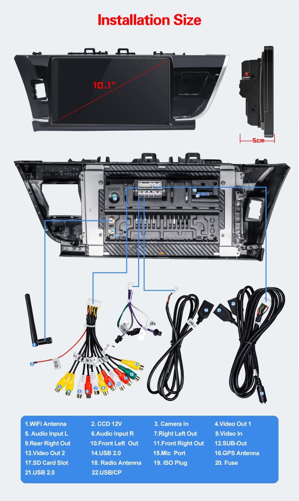 Stereo ''Tela Corolla Navigator 10