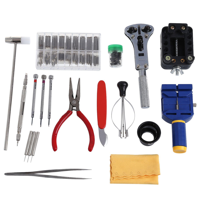 288 pièces Kit d'outils de réparation de montre horloger coque arrière couvercle de batterie
