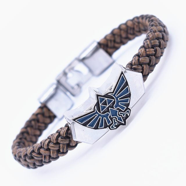 Attack on Titans Men Wings of Liberty Alloy Leather Bracelet